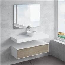 Set ripiano + lavabo CALIPSO NATUGAMA