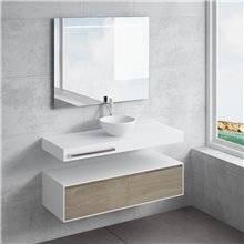 Set ripiano + lavabo CALIPSO portasciugamani NATUGAMA
