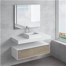 Set ripiano + lavabo GALATEA NATUGAMA