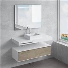 Set ripiano + lavabo GALATEA portasciugamani NATUGAMA
