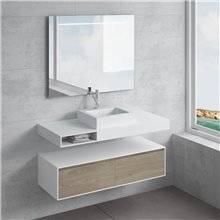 Set ripiano + lavabo GALATEA cassetto NATUGAMA