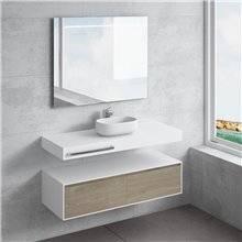 Set ripiano + lavabo NEREIDA portasciugamani NATUGAMA