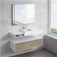 Set ripiano + lavabo CAMENA cassetto NATUGAMA