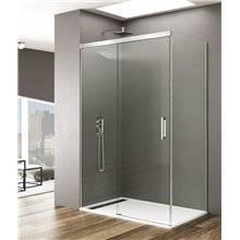Parete doccia angolare 1 porta scorrevole BASIC GME