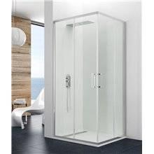 Parete doccia angolare 2 porte scorrevoli PRESTIGE GME