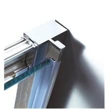 Parete doccia angolare 2 porte scorrevoli con serigrafia PRESTIGE GME