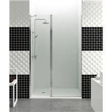 Parete doccia frontale porta fissa + a battente a parete OPEN GME