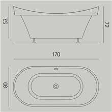 Vasca Drop ovale ad incasso con struttura B10