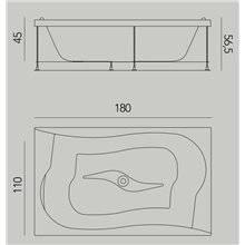 Vasca Drop rettangolare ad incasso con struttura B10