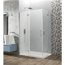 Parete doccia angolare 2 ante fisse + 2 porte a battente GLASS GME