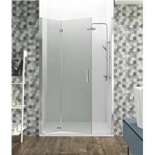 Parete doccia frontale 1 porta pieghevole GLASS GME