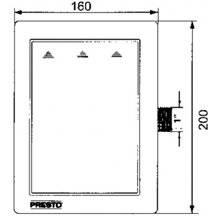 Flussometro per vaso WC PRESTO 1000 A