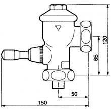 Flussometro per vaso WC PRESTO Eyrem