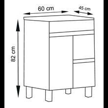 Mobile con lavabo 60 Bianco lucido Ischia TEGLER