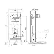 Cassetta a incasso Sanitarblock  autoportante meccanica OLI120 PLUS